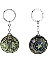 Three Shades Avengers Keychain Captain America Shield Keychain & Manchester United Set Of 2 Key Chain