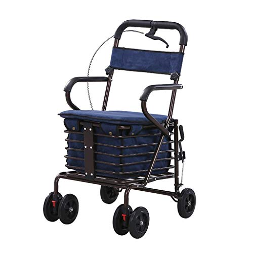 Plegable Ligero Compacto Rollerator Bastidor For Caminar