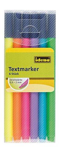 Idena 10460 - Textmarker im Etui, 6 Stück