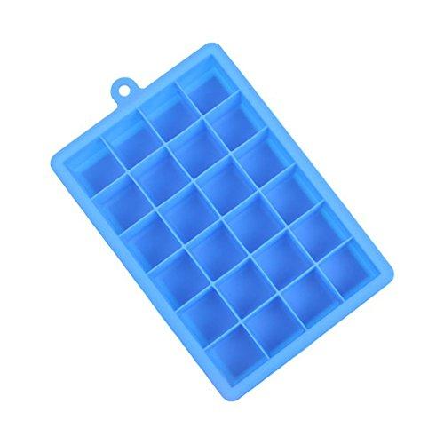 JUNGEN 24-Square cubitera hielo suave silicona Cubito de hielo bandeja