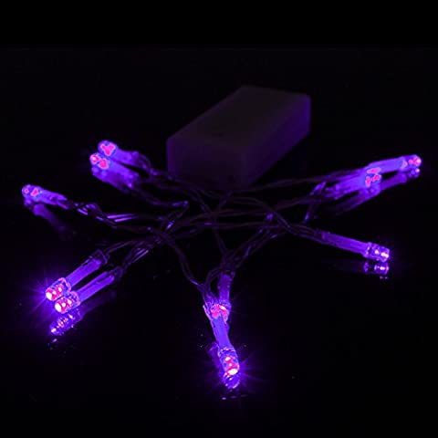 Bluelover 1M 10 LED batteria alimentato Natale matrimonio partito stringafata