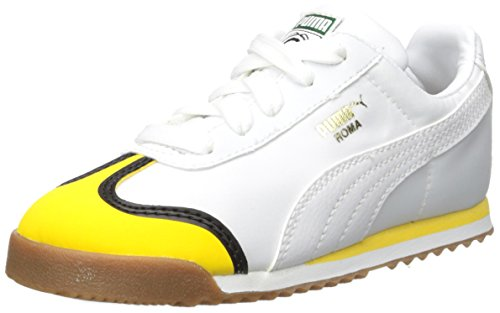 PUMA Baby Minions Roma Kids Sneaker, White-Minion Yellow White, 5 M US Toddler