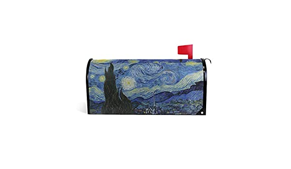 20.8 x 18 inch JSTEL Mailbox Cover Magnetica 64,8/x 52,8/cm Standard Size Van Gogh Starry Night Sky Mailbox Cover