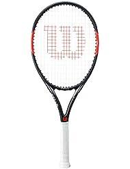 Wilson Federer Team 105 Raqueta de Tenis, Unisex Adulto, Rojo / Blanco / Negro, 3
