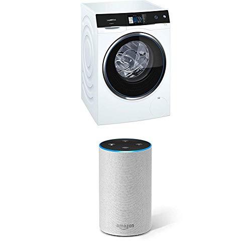 Siemens avantgarde WM14U840EU Waschmaschine / 10,00 kg / A+++ / 143 kWh / WLAN-fähig mit Home Connect + Amazon Echo (2. Gen.), Intelligenter Lautsprecher mit Alexa, Sandstein Stoff