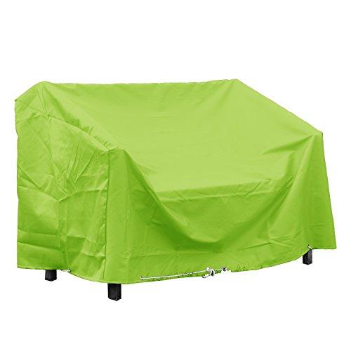 GREEN CLUB Housse de Protection pour Banc de Jardin Haute qualité Polyester L 160 x l 60 x h 80 cm Couleur Vert