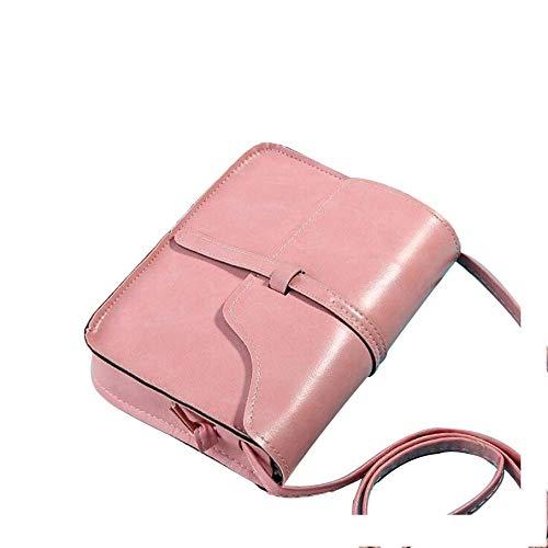 - Piccola borsa a tracolla da donna, in pelle, stile vintage e Oro giallo, colore: rosa, cod. 2