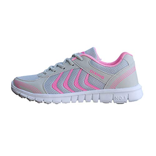 UOMOGO 6 Royal Scarpe Donna da Ginnastica Running Sports Sneaker da Fitness Allacciare Maglia Nero Blu Grigio Bianco 35-44