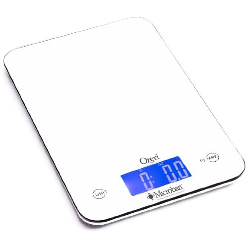 41I5gvaJa9L. SS500  - Ozeri Touch II 18 lbs Digital Kitchen Scale, with Microban Antimicrobial Product Protection