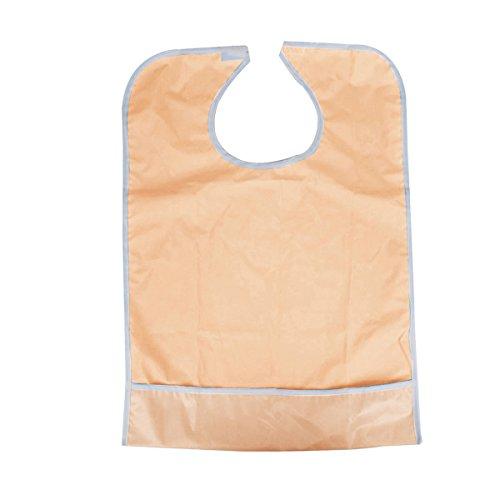FENICAL Wasserdicht Erwachsene Essservice Lätzchen Kleidung Displayschutzfolie Ältere Behinderte Menschen Schürze Rosa