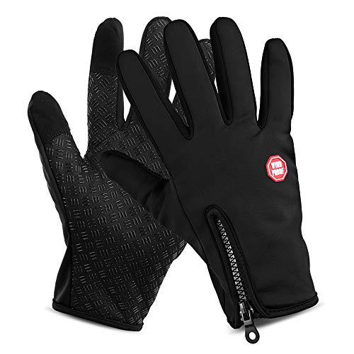 Lixada guanti da ciclismo touchscreen impermeabili sport invernali da esterno antivento guanti da equitazione per bici da guida guanti da moto per uomo e donna