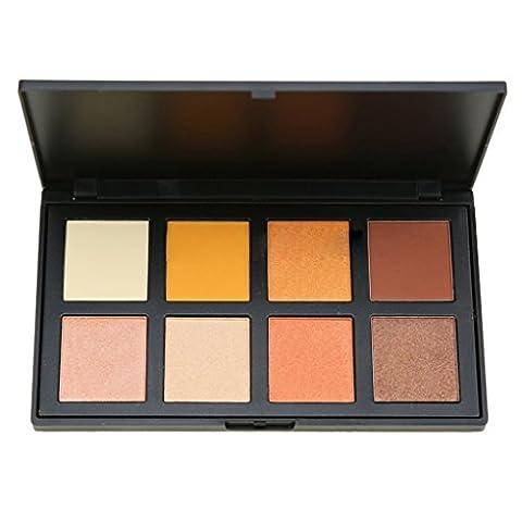 Xuanhemen Lidschatten-Palette 8 Farbe Make-up Warm No-blühenden und wasserdichten Augenschatten