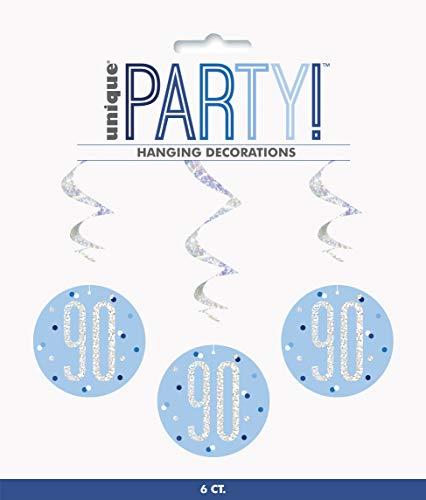Unique Party- Adornos, Color blue & silver (83804)