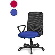 Silla de oficina, silla para escritorio o estudio, medidas: 58x88,5x55cm↗, Coco (Azul)