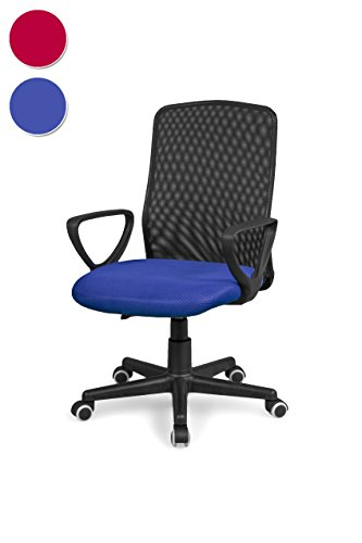 Due-home Silla de Oficina, Silla para Escritorio o Estudio, Medidas: 58x88,5x55cm↗, Coco (Azul)