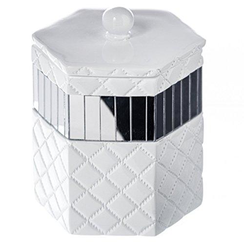 Best price quilted mirror q tip holder 4 x 3 4 x 4 8 for Bathroom q tip holder