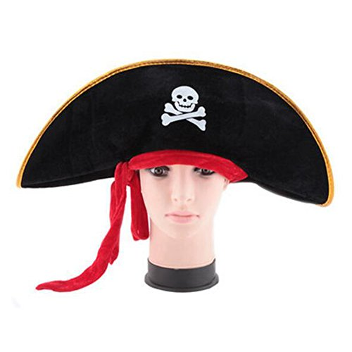 Black Temptation Halloween-Kostüm-Party Dress Up Pirate Hat Seemann Cap Cosplay-A4