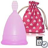 Menstruationstasse CozyCup SPORT BPA-frei und vegan - Nachhaltige Menstruationstassen für sportliche Frauen (lila, 2 - groß)