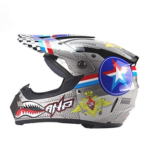 Uomini donne Off Road Casco integrale moto Caschi moto con sistema di ventilazione a motore Motocross Racing tappi di protezione