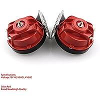Zantec 2 sartenes eléctricos para bocina de caracol de 12 V 110 db de doble tono