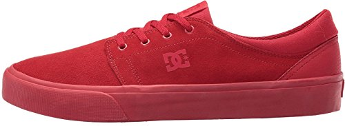 DC Trase SE Red Suede Mens Skate Trainers Shoes-12 (Se Skate Schuh Net)