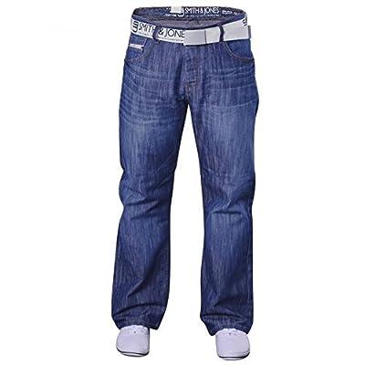 Men's Smith and Jones Designer Batusa Straight Leg Regular Fit Relaxed Denim Jeans