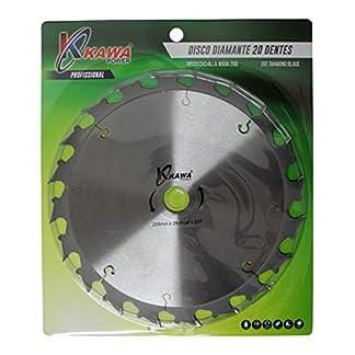 Kawapower KW024 Disco cuchilla de Widia con 20 puntas para desbrozadora