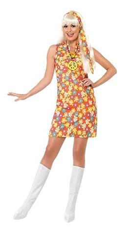 Smiffy's - 70er Jahre Hippiekostüm Kostüm Hippie für Damen Flower Power Damenkost