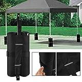 Leoboone 4pcs tragbare Baldachin Zelt Gewicht Taschen Outdoor Sun Shelter Winddicht Sandsäcke für...