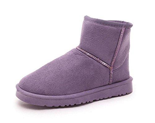 CHAOYANG-Winterstiefel flache Duantong Frauen und dicke Samt warme Stiefel Schnee gleiten weiblichen Fuß Schuhe setzt , purple , US7.5 / EU38 / UK5.5 / CN38 (Schnee Stiefel Für Frauen, Ugg)