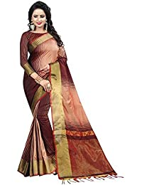 Women's Mysore Art Silk Saree With Blouse Piece(Brown Choclate Color)