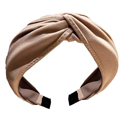 JUNCHUANG Stirnbänder für Frauen, Bogen Knoten Kreuz Krawatte Headwrap Haarband, Knoten Bogen...