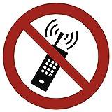 Pegatinas por teléfono móvil Prohibido 20cm Diámetro pantalla según ASR a 1.3/BGV A8/DIN 4844