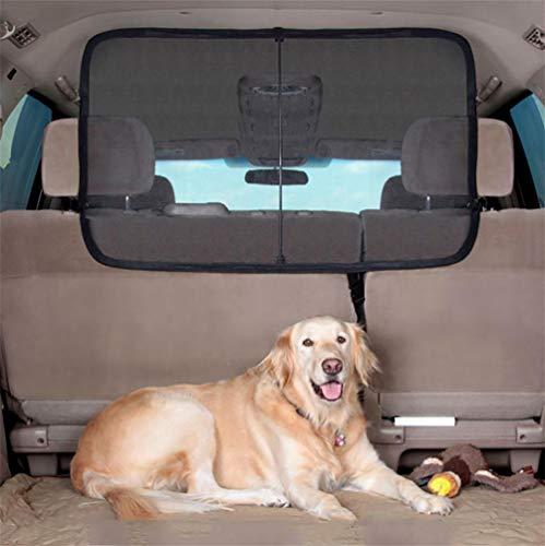 HUADEGO Cargo Area Net Pet Barrier Deluxe Dog Barrier,Pet Net Vehicle Safety Mesh Dog Barrier SUV/Car/Truck/Van