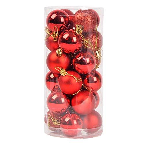 LQZ 24pcs Christmas Tree Baubles Balls Decor Ornament Xmas Wedding Party Decorations