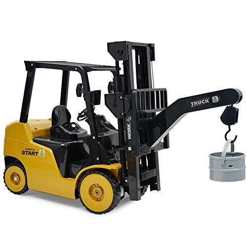 RC Auto kaufen Baufahrzeug Bild 4: Wokee 2,4 GHz RC Fernbedienung LKW Gabelstapler 1:14 Spielzeug Kinder,60 x 14,5 x 29 cm,Heavy Metal Modellbau Forklift*