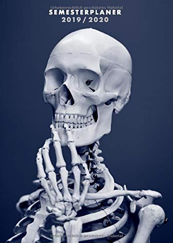 Semesterplaner 2019/2020: Din A5 Studienplaner für Medizinstudenten   Lustiges Geschenk fürs Studium Medizin   Kalender Studium von September 2019 bis Oktober 2020 - Kalender Anatomie