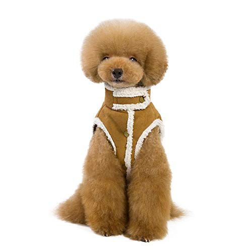 Haustier Kleidung verdickte Fleece gefüttert Berber Fleece Hund Jacke Weste Teddy Hund warme Wintermantel 2 Farben -