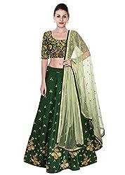 Fabron Green elegance Lehenga Choli With Beige Net Dupatta