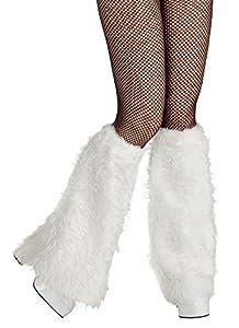 Boland 01731 - calentadores de la pierna de la felpa, Einheitsgröߟe, blanco
