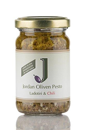 Preisvergleich Produktbild Jordan Oliven Pesto - Ladotiri & Chili - 90g Glas, 3er Pack (3 x 90 g)