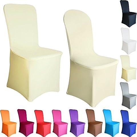 Spandex Lycra Cubresillas fundas de silla Frente plano Elegante ideal para celebraciones casarse