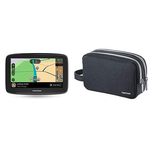 TomTom GO Basic Pkw-Navi (6 Zoll, mit Updates über Wi-Fi, Lebenslang Traffic via Smartphone und EU-Karten) & TomTom-Universaltragetasche (geeignet für alle TomTom-Navigationsgeräte) Garmin Single