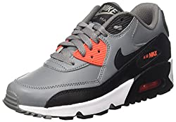 Nike Unisex-Kinder Air Max 90 Ltr Gs Sneakers, Grau (Cool Grey/Black Orange/WHI), 38 EU