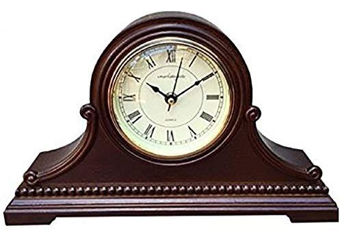 Vmarketingsite, orologio da tavolo, in legno, con carillon westminster, orologio da tavola decorativo, a batteria silenzioso, suona la melodia westminster ogni ora