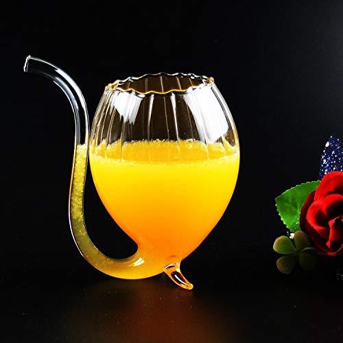 CGDZ 1 stück Gläser Neue Heiße Stilvolle Rotwein Glas Wodka Shot Cup Whisky Glaswaren Trinkschlauch Becher Saugen Für Barware -