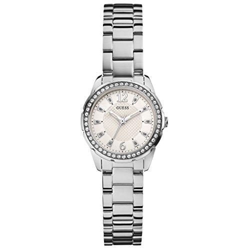 Guess W0445L1–Orologio per Donna, Cinturino in Acciaio Inox Colore Argento