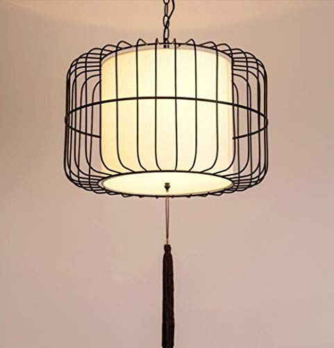 HGJSMN Restaurante Luces pendientes lámpara antigua, la jaula de ...