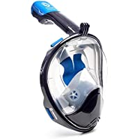 WildHorn Outfitters Seaview 180° Full Face Snorkel Mask With EVA Case
