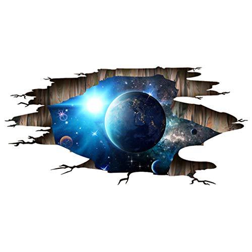 Dtuta Mode Kreative 3D Sternenhimmel Planet DIY Familie Wandaufkleber Abnehmbare Wandbild Vinyl Kunst Raumdekoration